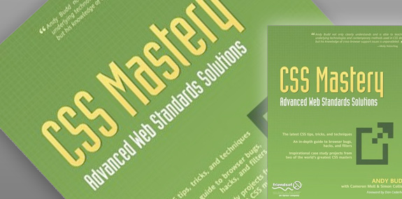 CSS Mastery Advanced Web Standards Solutions book in green colour.