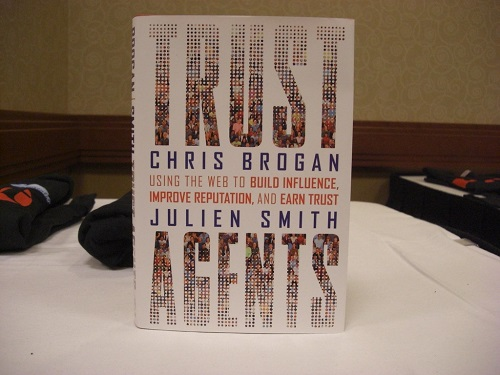 A Book Of Chris Brogan Which is About Trust Agents For Building Influence And Reputation In Business.