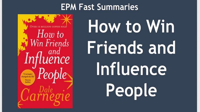 A Book Of Dale Carnegia Which Is About How To Win Friends & Influence People On Display.