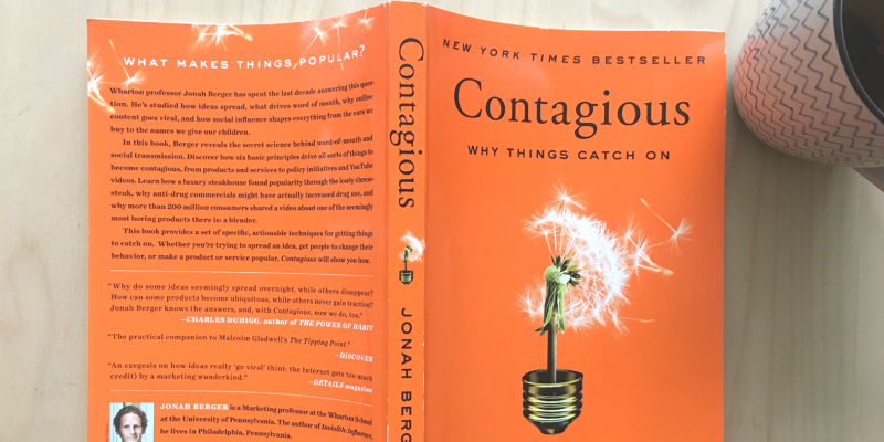 Contagious - Why Things Catch On - A Best BookBy Jonah On Display.