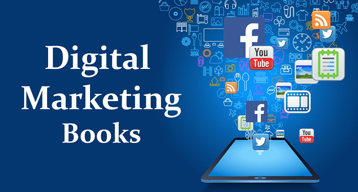 A Text That Written Digital Marketing Books Which Represented By A Smartphone Popups The Social Media In A Virtual Panel