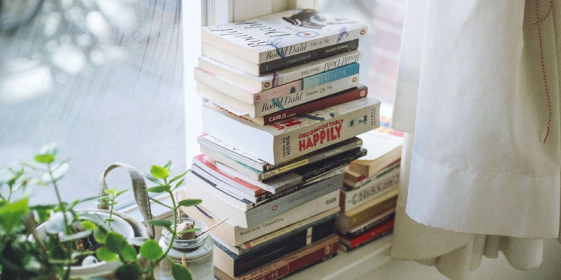 A Stack of Books For Entrepreneurs And Startup Founders Placed Near The Window.