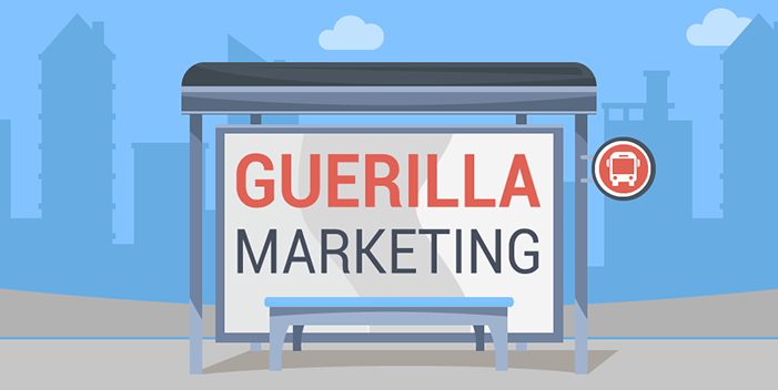 A Vector Image Of Guerilla Marketing Concept.