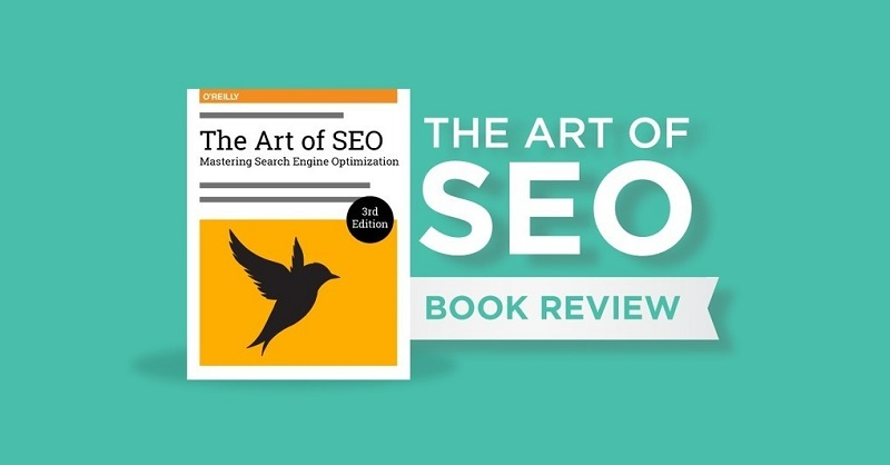 The Art If Seo - Book On Display In Blue Background.