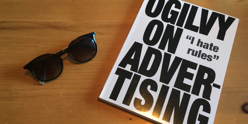A Book Called Ogilvy On Advertising - Placed On The Table.