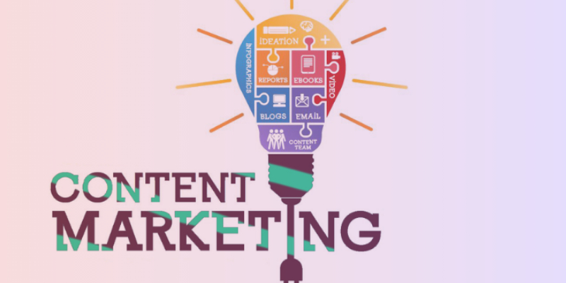 A Vector Image Representing The Concept Of Content Marketing